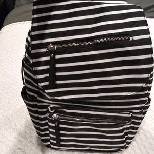 No Boundaries B&W Pinstripe Cargo Backpack